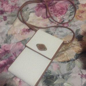ESPIRIT vintage cross body leather wallet